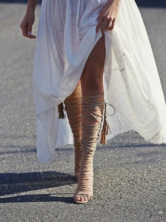 shoes summer boho gypsy gladiators nude white dress sandals