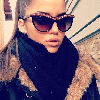 sunglasses cat eye black sunglasses accessories accessory wedding dress glamour style stylish brown black gold gorgeous beautiful summer