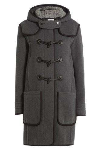 coat duffle coat wool grey