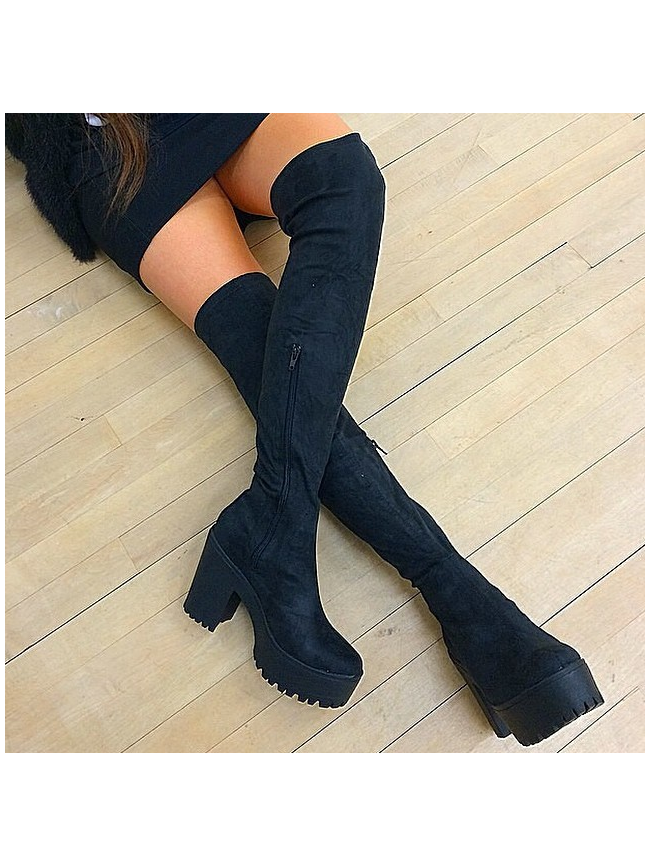#### women over knee boots black ### ? samba5 only ?