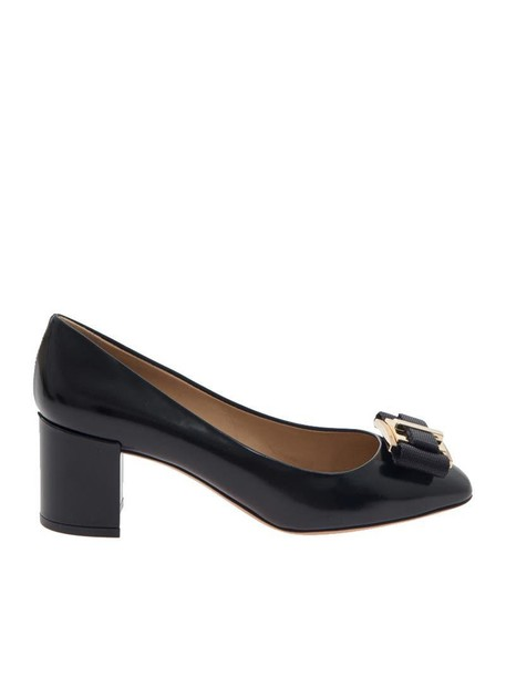 Salvatore Ferragamo bow pumps black shoes