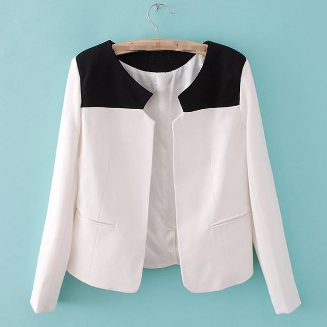 Elegant black & white blazer