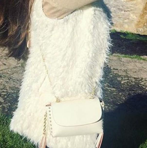 bag white shoulder bag