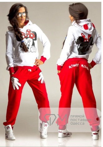 pants minnie mouse cute red sweater