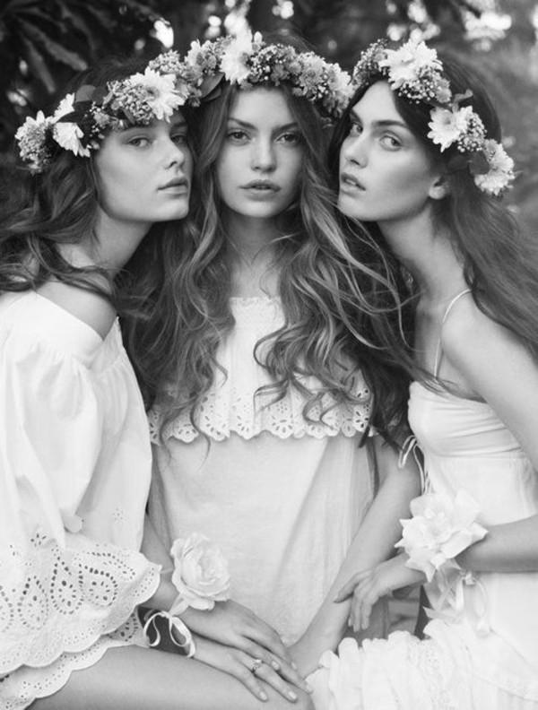 hat flower hairband bridesmaid hipster wedding boho