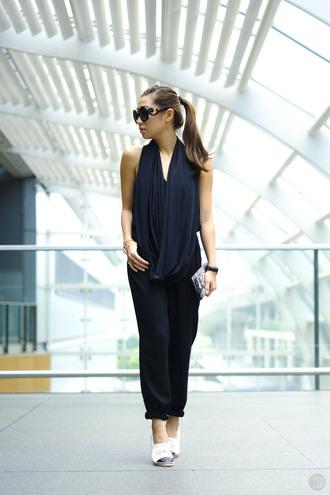 shoes blogger kryzuy jumpsuit sunglasses