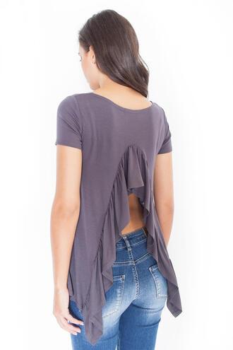 blouse molly dress ruffle low back
