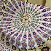 home accessory,wall hanging tapestry,mandala tapestry,boho,bohemian tapestry,indian tapestry,hippie tapestry,bedspreads,mandala bedding,bedding,bedsheet,tapestry,wall decor,home decor,dorm tapestry,Traditional Mandala Colorful Wall Hanging Tapestry