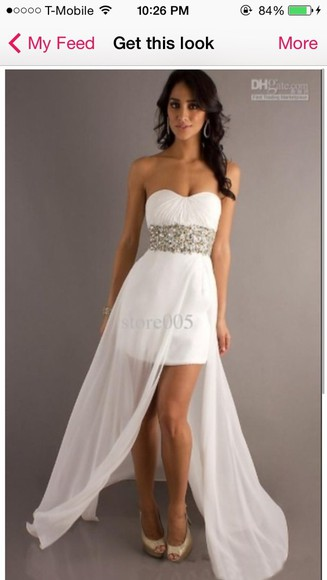 dress ivory dress prom dress white dress white long prom dresses white, rhinestone, high heels , stripper heels