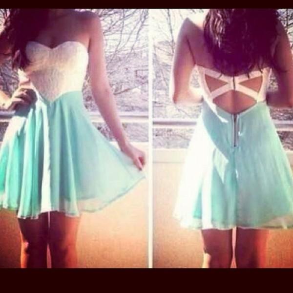 dress blue blue dress pretty preppy open back open back dresses