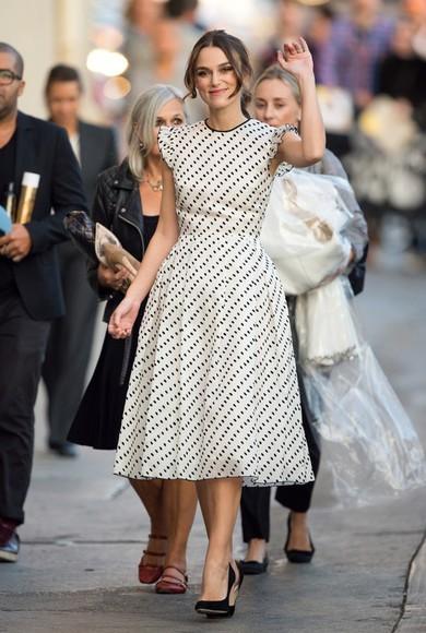 dress keira knightley polka dots