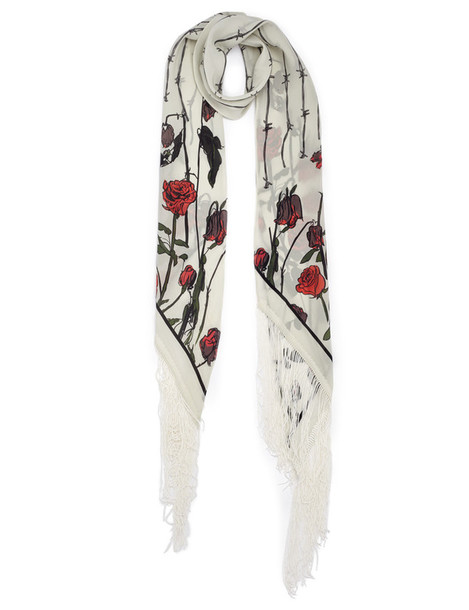 Rockins scarf silk roses