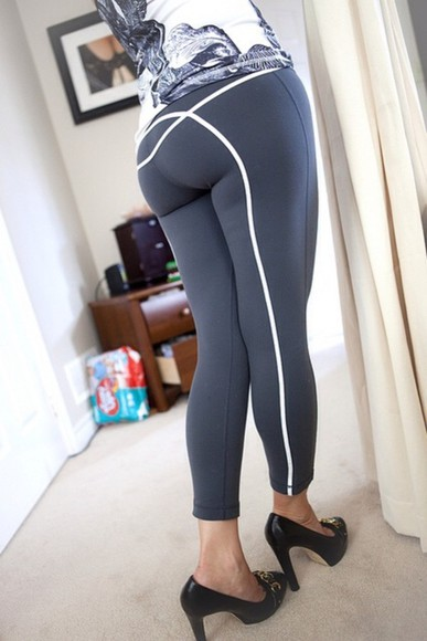 grey pants yoga pants spandex