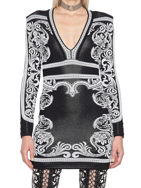 Balmain dress white black