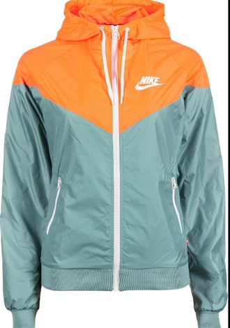 jacket nike jacket white orange teal nike
