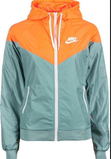 195787528059 jacket nike jacket white orange teal nike