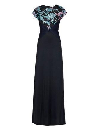 gown statement black dress