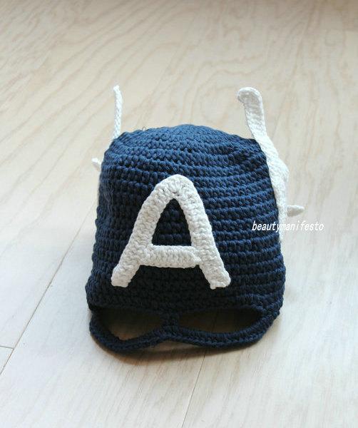 Captain america hat with secret identity mask