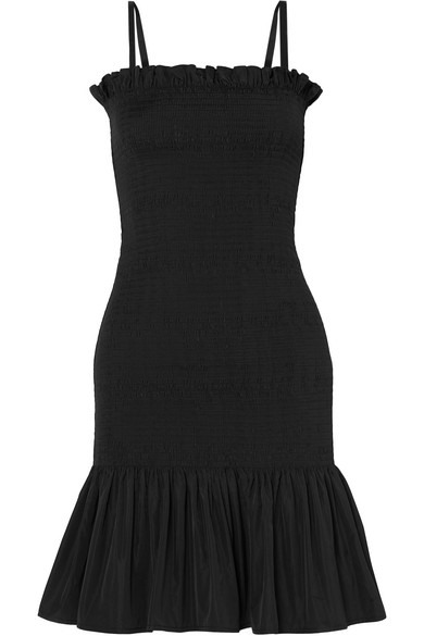 Molly Goddard - Shirred Taffeta Mini Dress - Black - Shirred Taffeta Mini Dress