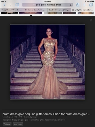 dress gold sequins mermaid prom dress fitted dress