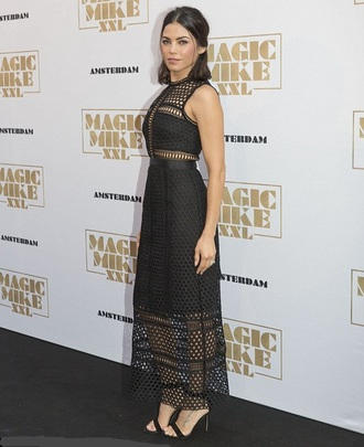 dress gown mesh jenna dewan sandals black dress midi dress