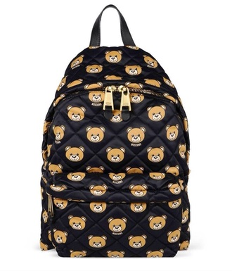 bag moschino backpack quilted bag