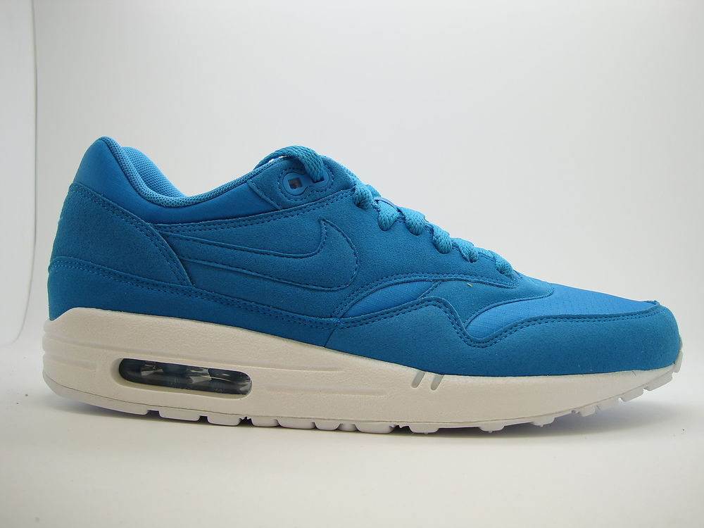 308866 444 Mens Nike Air Max 1 Dynamic Blue Ripstop Pack Running Sneakers 2012 | eBay