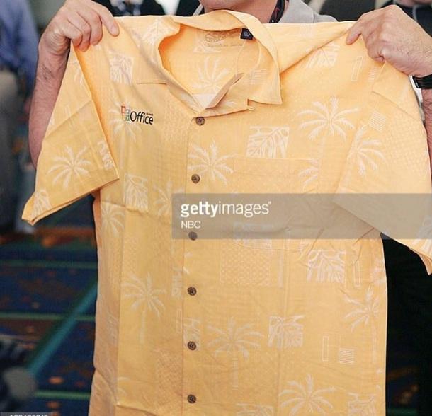 shirt the office hawiian print