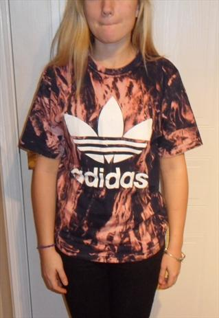 nisex customised adidas grunge acid wash tie dye t shirt S | mysticclothing | ASOS Marketplace