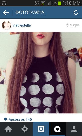 t-shirt moon tank top crop tops grunge