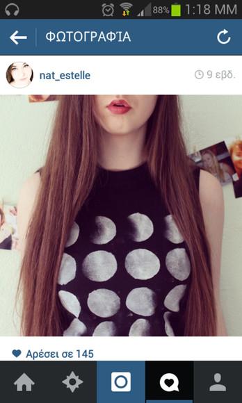 t-shirt tank top grunge crop tops moon