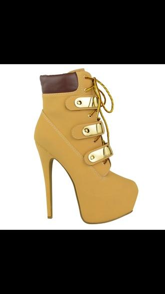 shoes brown honey stiletto heels 6 inch timberland heels