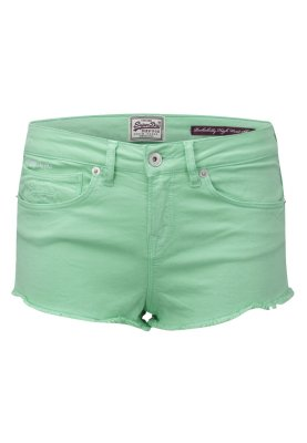 Superdry ROCKABILLY - Jeans Shorts - phospho mint - Zalando.de