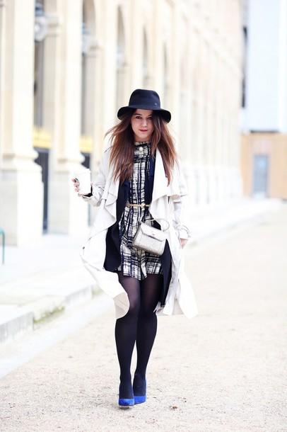 elodie in paris blogger coat jewels dress shoes bag hat belt