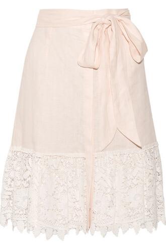 skirt pastel lace cotton pink pastel pink
