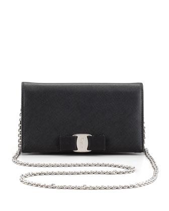 Salvatore Ferragamo Mini Vara Crossbody Wallet Clutch Bag, Black - Neiman Marcus