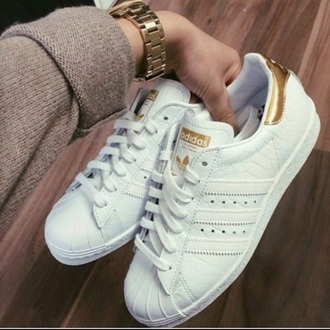 shoes adidas crocodile white gold