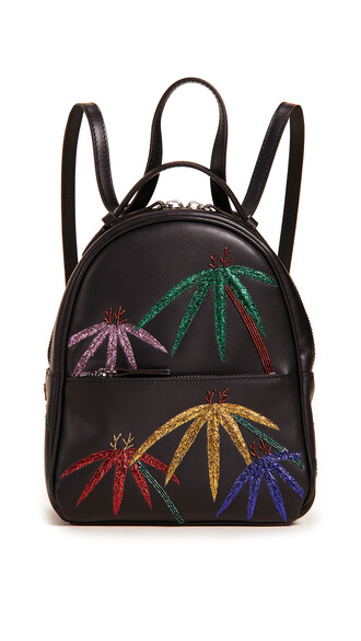 tree palm tree backpack black bag