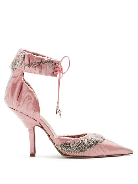 embellished pumps satin light pink light pink shoes