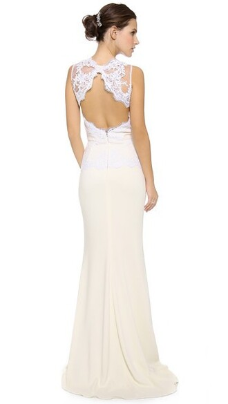 gown back open open back lace dress
