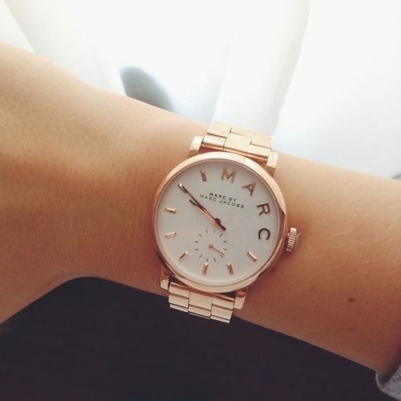 jewels watch marc by marc jacobs gold watch