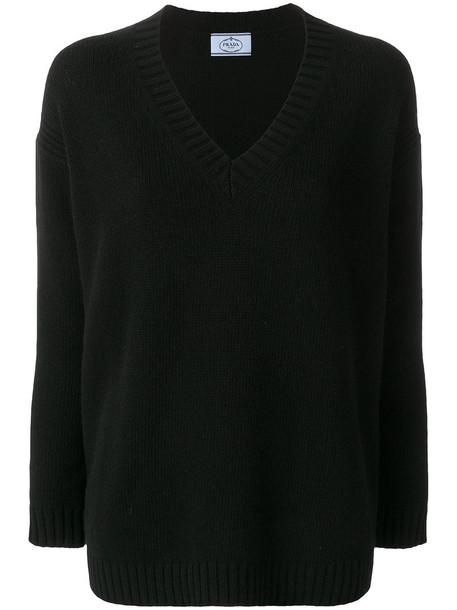 Prada jumper women black wool sweater