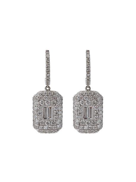 Shay women earrings gold white grey metallic jewels