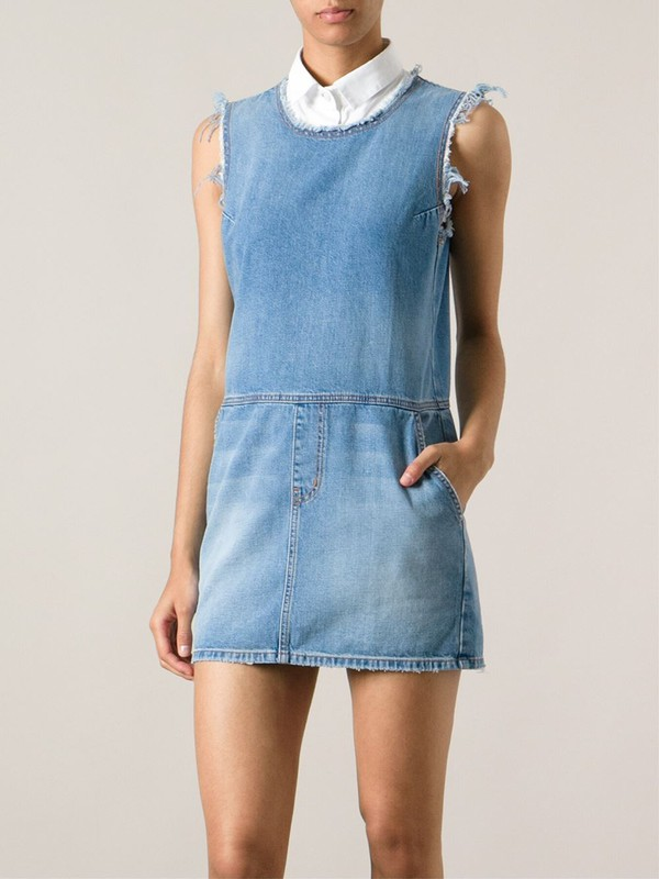 current/elliott short denim dress