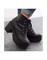 Chunky platforms chunky high heel heels pink white black leather