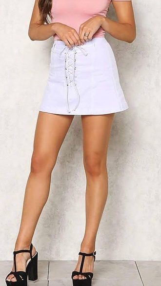 skirt white lace