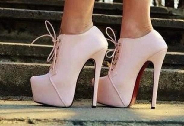 light pink high heel shoes