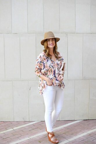 live more beautifully blogger blouse bag jewels hat shoes make-up