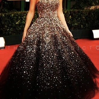 dress gown red carpet dress sparkly dress silver dress black ball gown dress olivia wilde