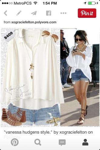 blouse vanessa hudgens cardigan shoes
